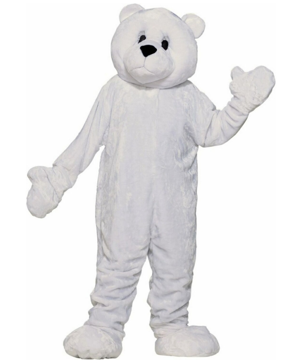 Plush Polar Bear Mascot Costume