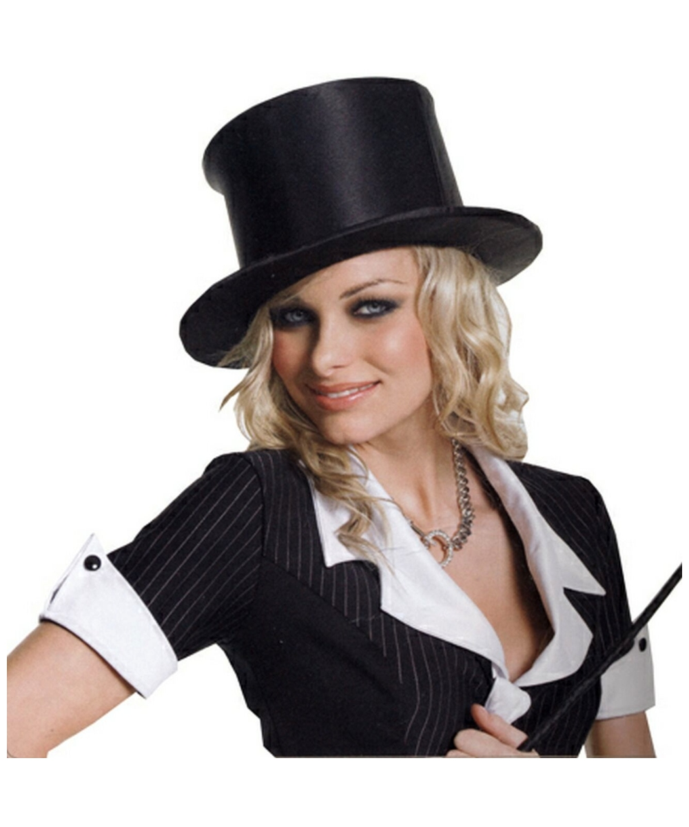 Satin Top Hat Adult Accessory At Wonder Costumes