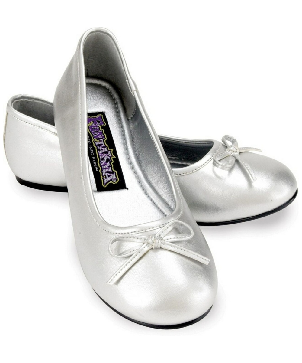 Silver Shoes Womens Ballet Flats