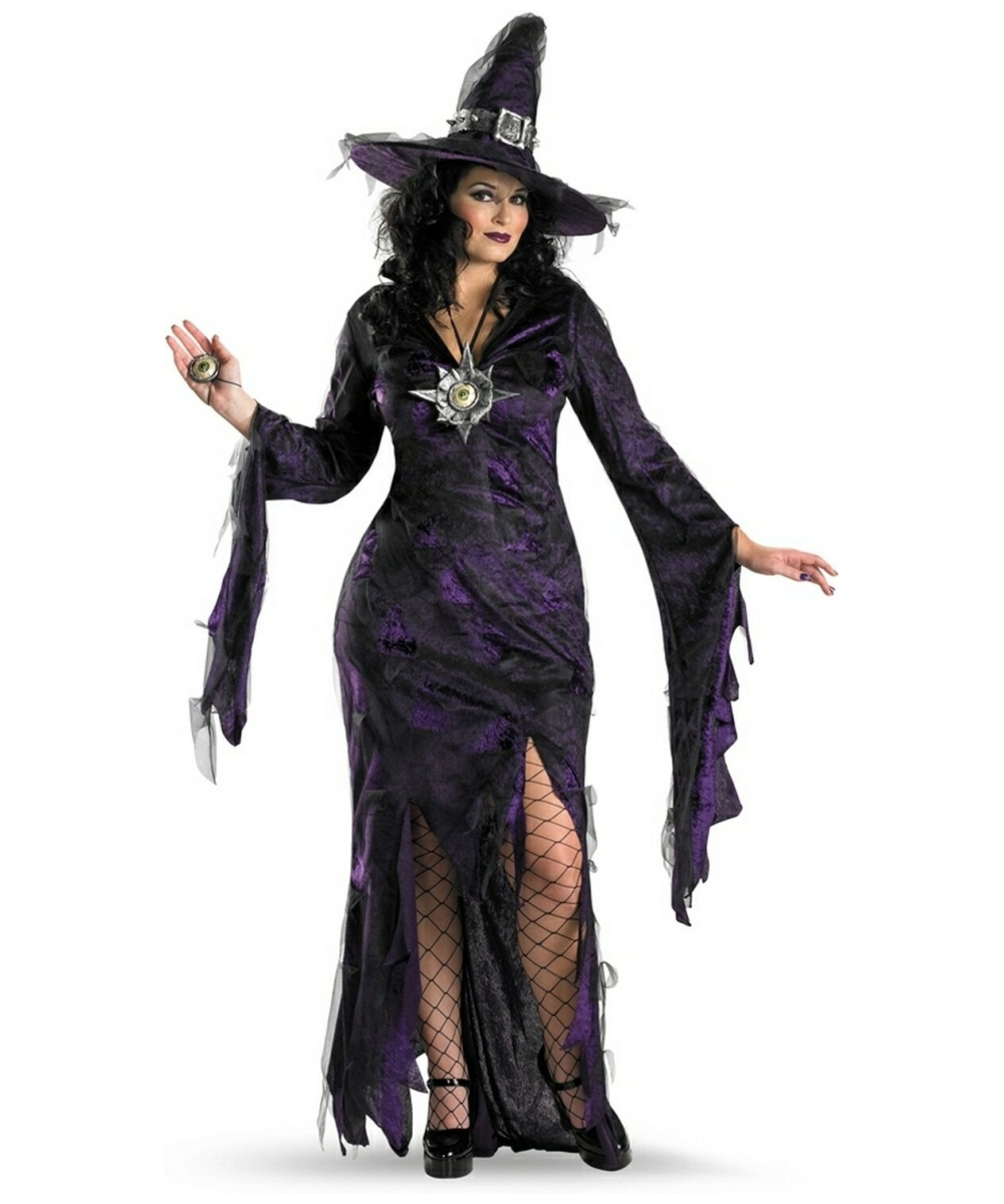 Sorceress Costume - Adult Plus Size Costume - Witch Halloween Costume at Wonder Costumes  sc 1 st  Halloween Costumes & Sorceress Costume - Adult Plus Size Costume - Witch Halloween ...