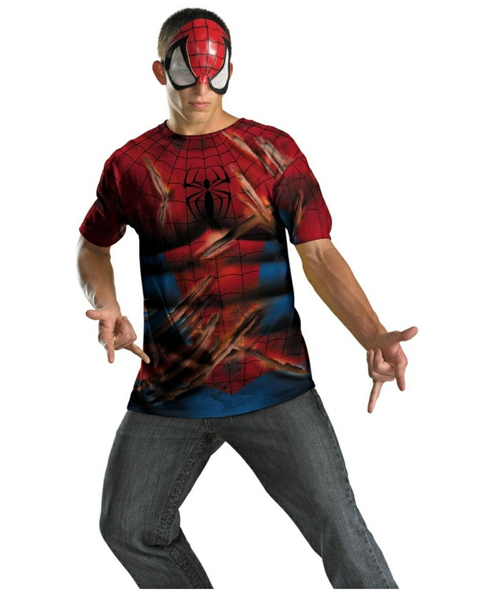 Spider Man Halloween Costume Adults.Spiderman Kit Adult Costume Men Superhero Costumes
