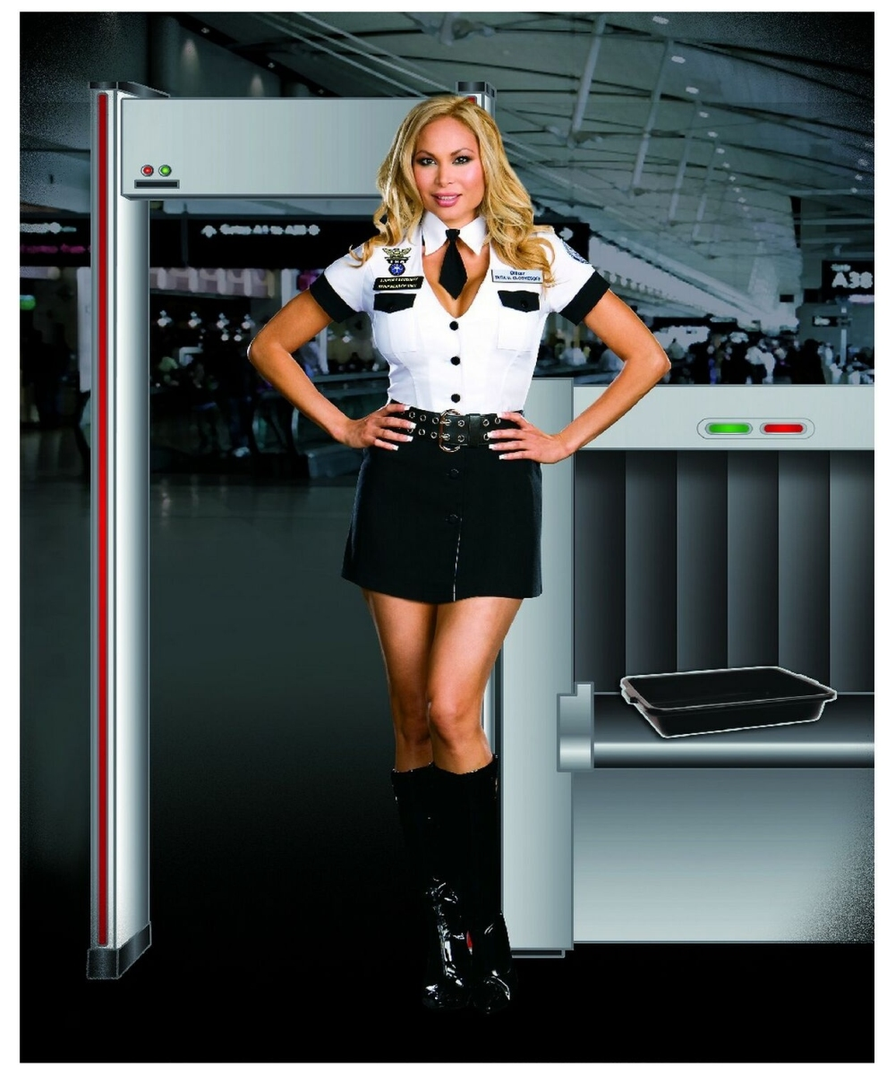 Airport security girls checkout cfnm 10
