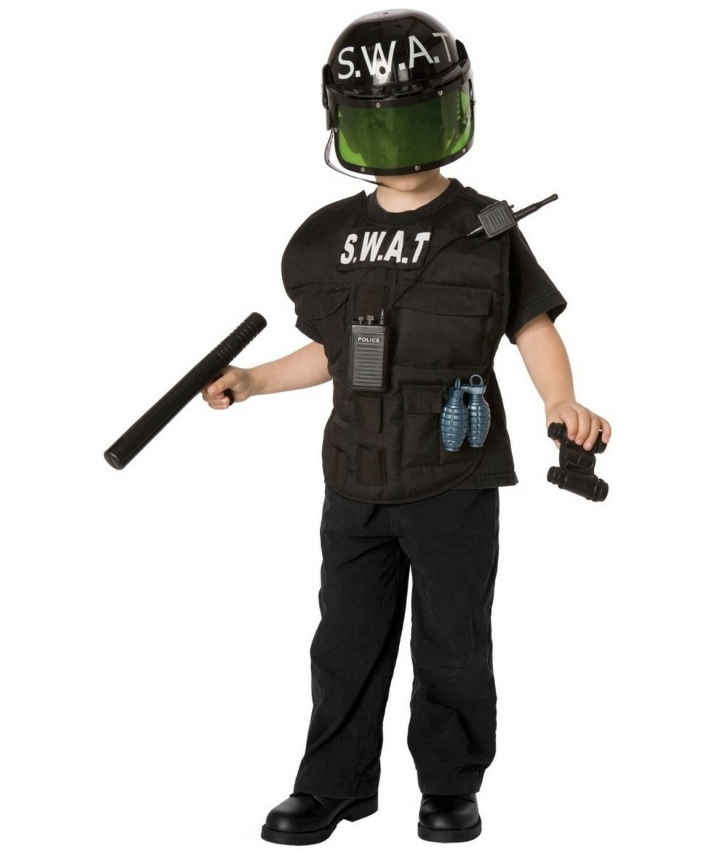 S.w.a.t Officer Kids Costume Kit - Kids Costume - Halloween Costume at Wonder Costumes  sc 1 st  Wonder Costumes : kids swat costume  - Germanpascual.Com
