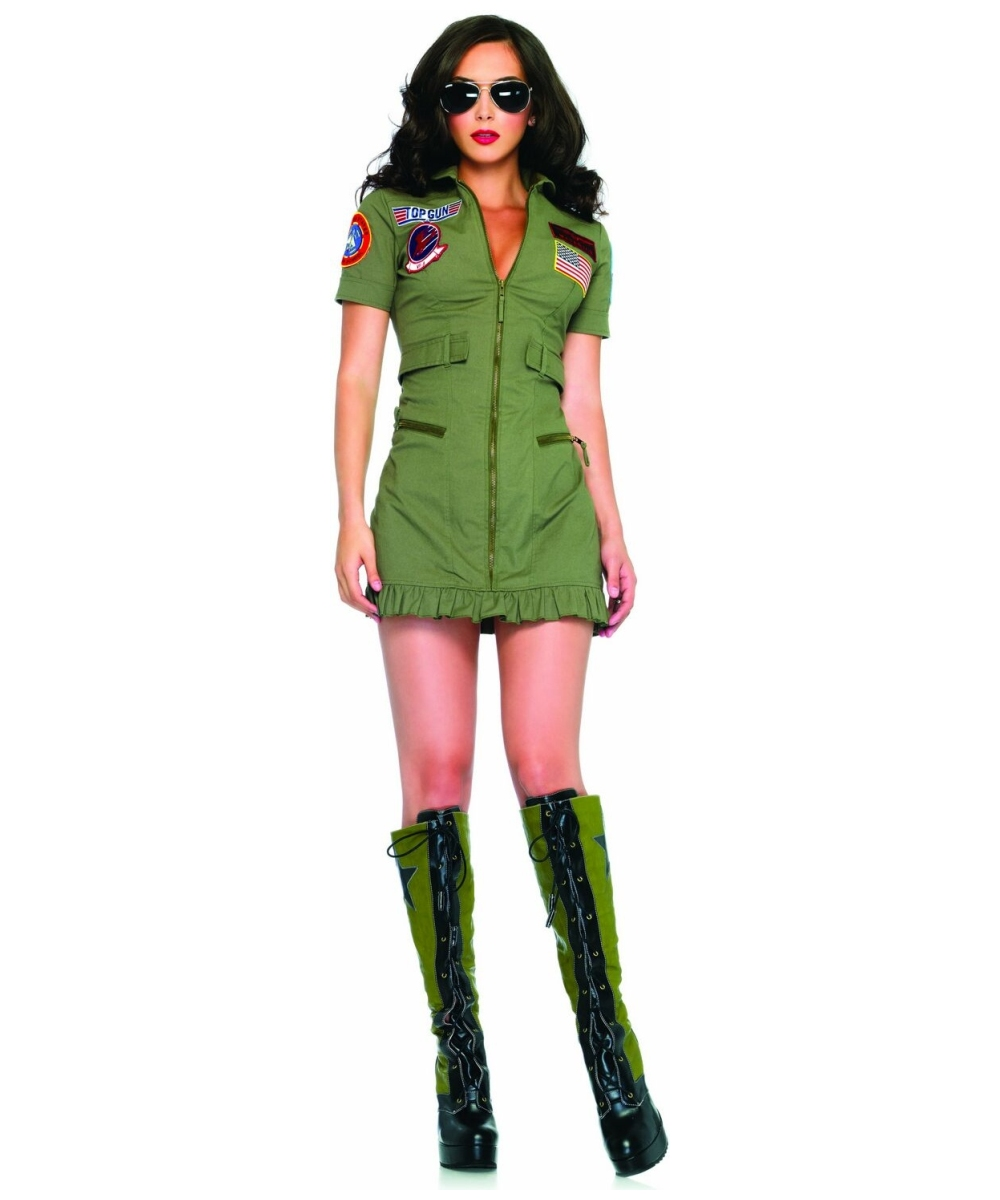 Womens Flight Dress Costume