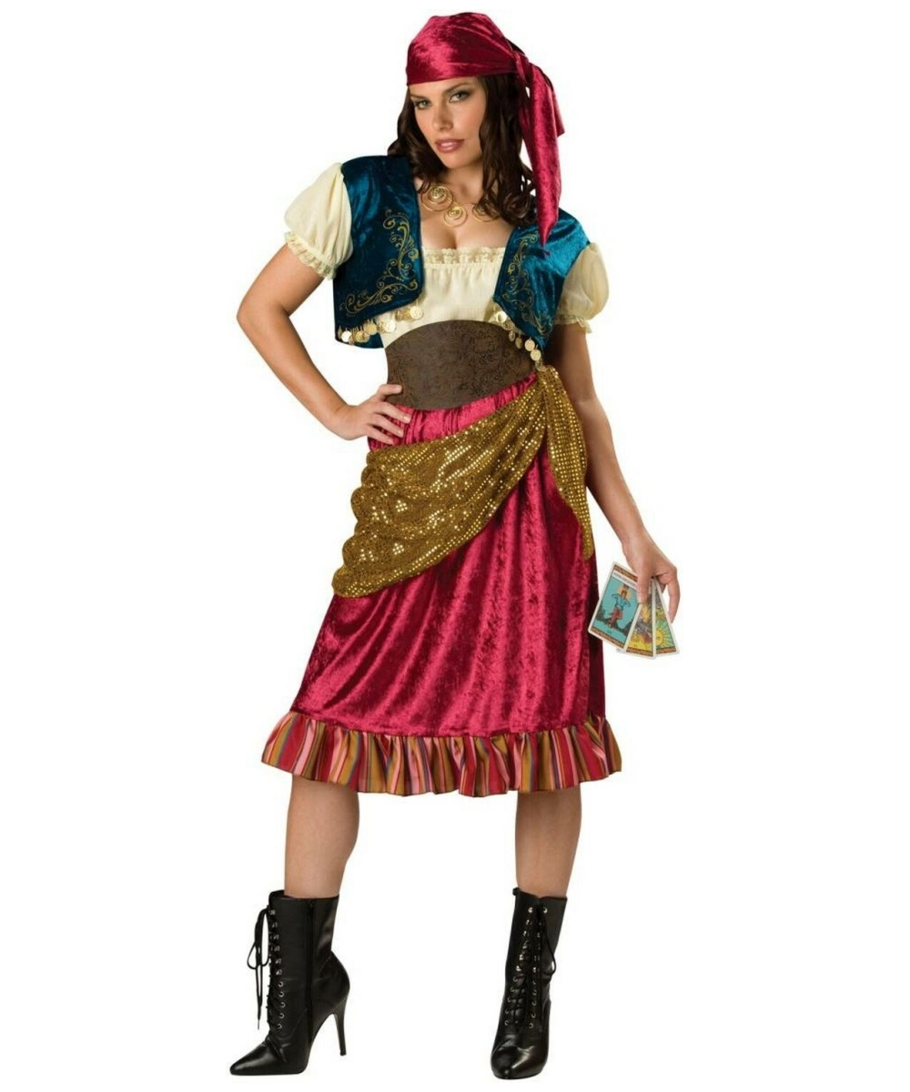 sc 1 st  Halloween Costumes & Gypsy Maiden Adult Costume - Women Gypsy Costumes