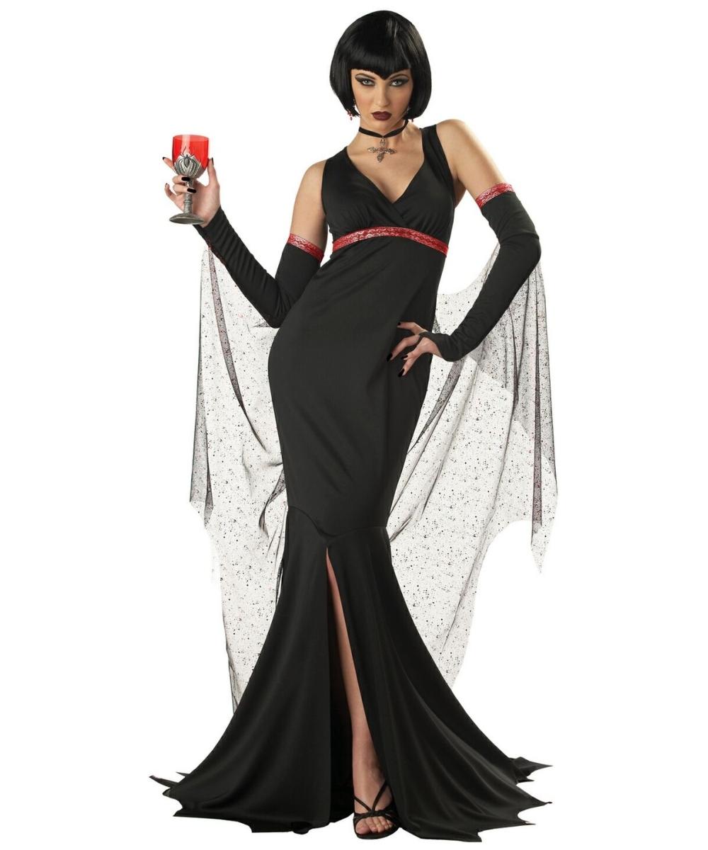 adult immortal seductress vampire halloween costume. Black Bedroom Furniture Sets. Home Design Ideas