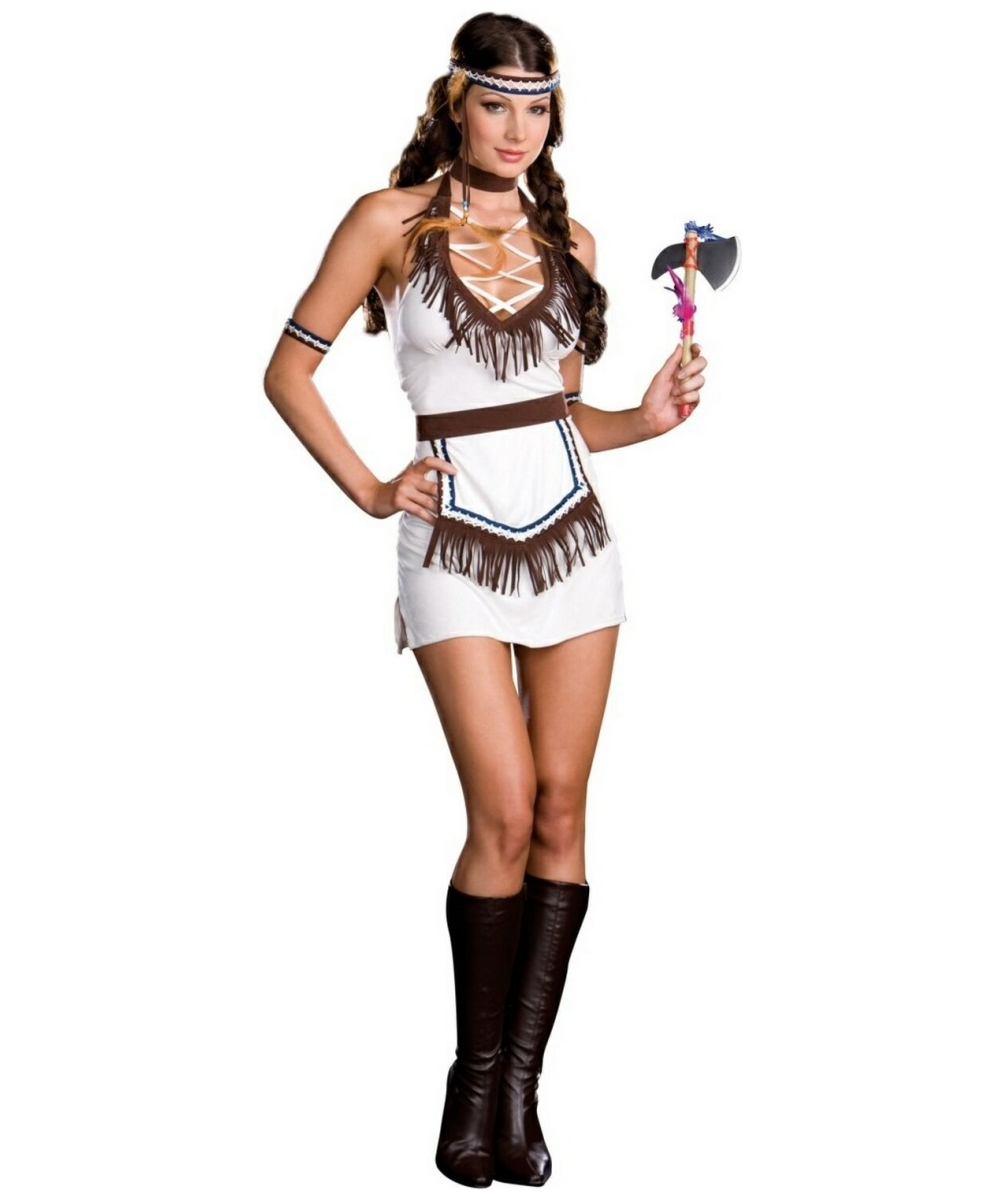 Native Indian Knockout Sexy Adult Costume - Women Indian -8615