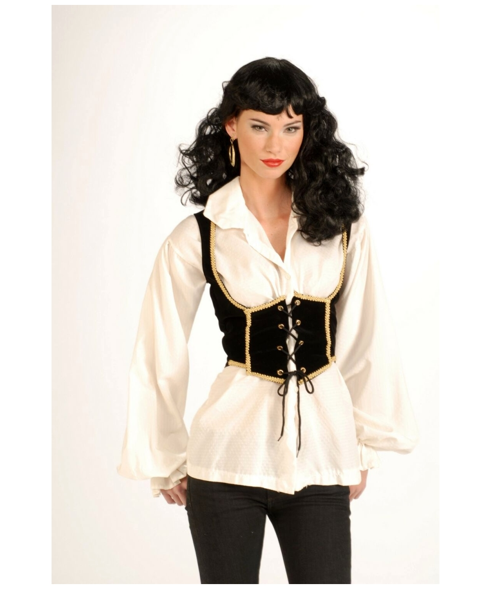 sc 1 st  Halloween Costumes & Adult Female Pirate Vest Costume - Women Costumes