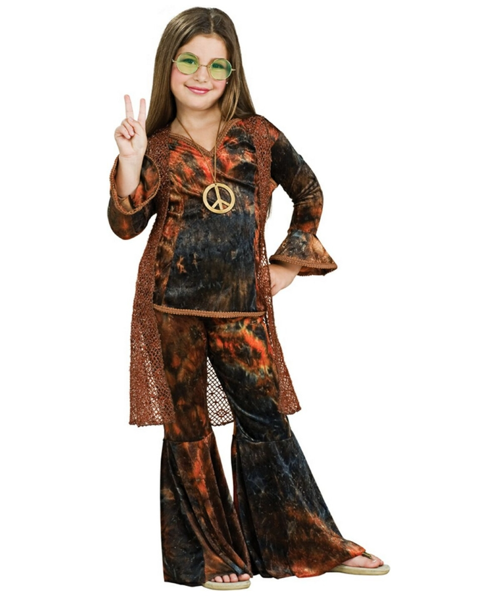 woodstock diva brown costume - kids costume - hippie halloween