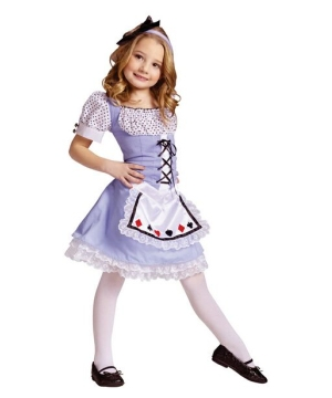 Girls Wonderland Disney Costume