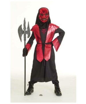 Boys Demons Metal Warlord Costume