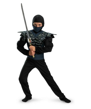 Boys Night Camo Ninja Costume