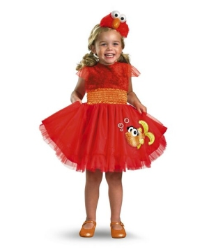 Sesame Street Frilly Elmo Girls Costume