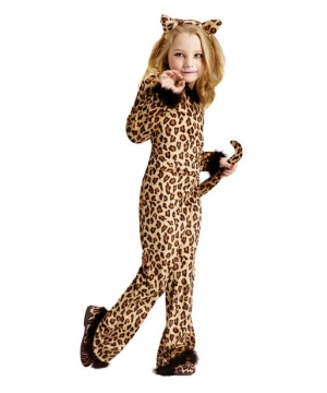 Girls Pretty Leopard Costume