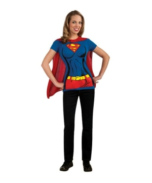 Supergirl Shirt Adult Costume