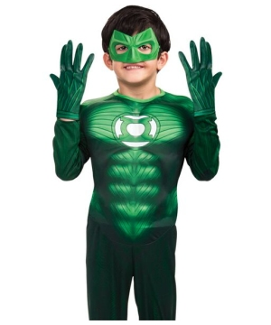 Green Lantern Kids Gloves