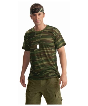 Mens Camouflage T Shirt
