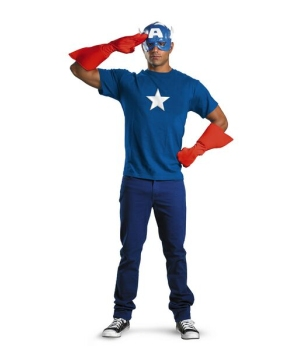 Mens Captain America Kit Costume