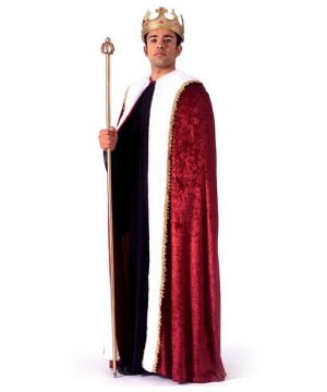 Mens King Robe Costume