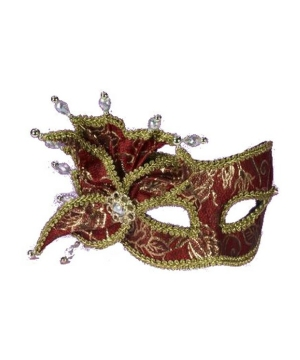 Red Gold Masquerade Mask