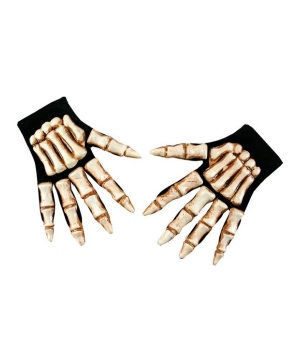 Skeleton Hands Adult Gloves Accessory