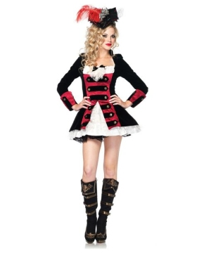 Womens Charming Pirate Captain Costume