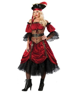 Womens Swashbuckling Scarlet Costume