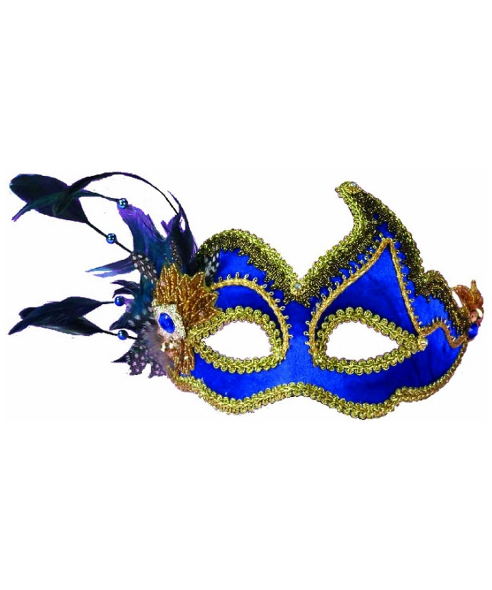 Royal Peacock Masquerade Adult Mask  sc 1 st  Wonder Costumes & Adult Royal Peacock Masquerade Mask - Halloween Costume Mask