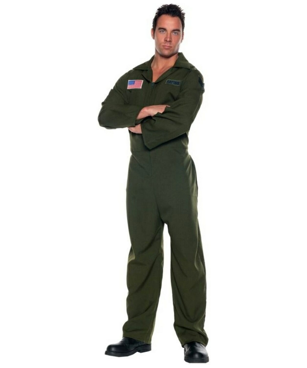 Air Force Jumpsuit Costume - Adult Costume - Halloween Costume at Wonder Costumes  sc 1 st  Wonder Costumes : air force costumes  - Germanpascual.Com
