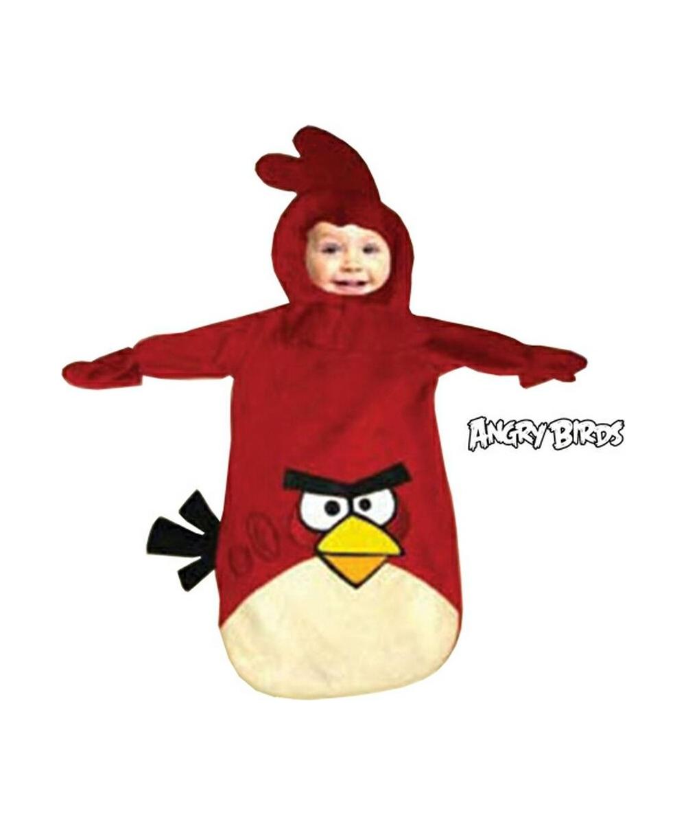 Red Rovio Angry Birds Baby Movie Halloween Costume