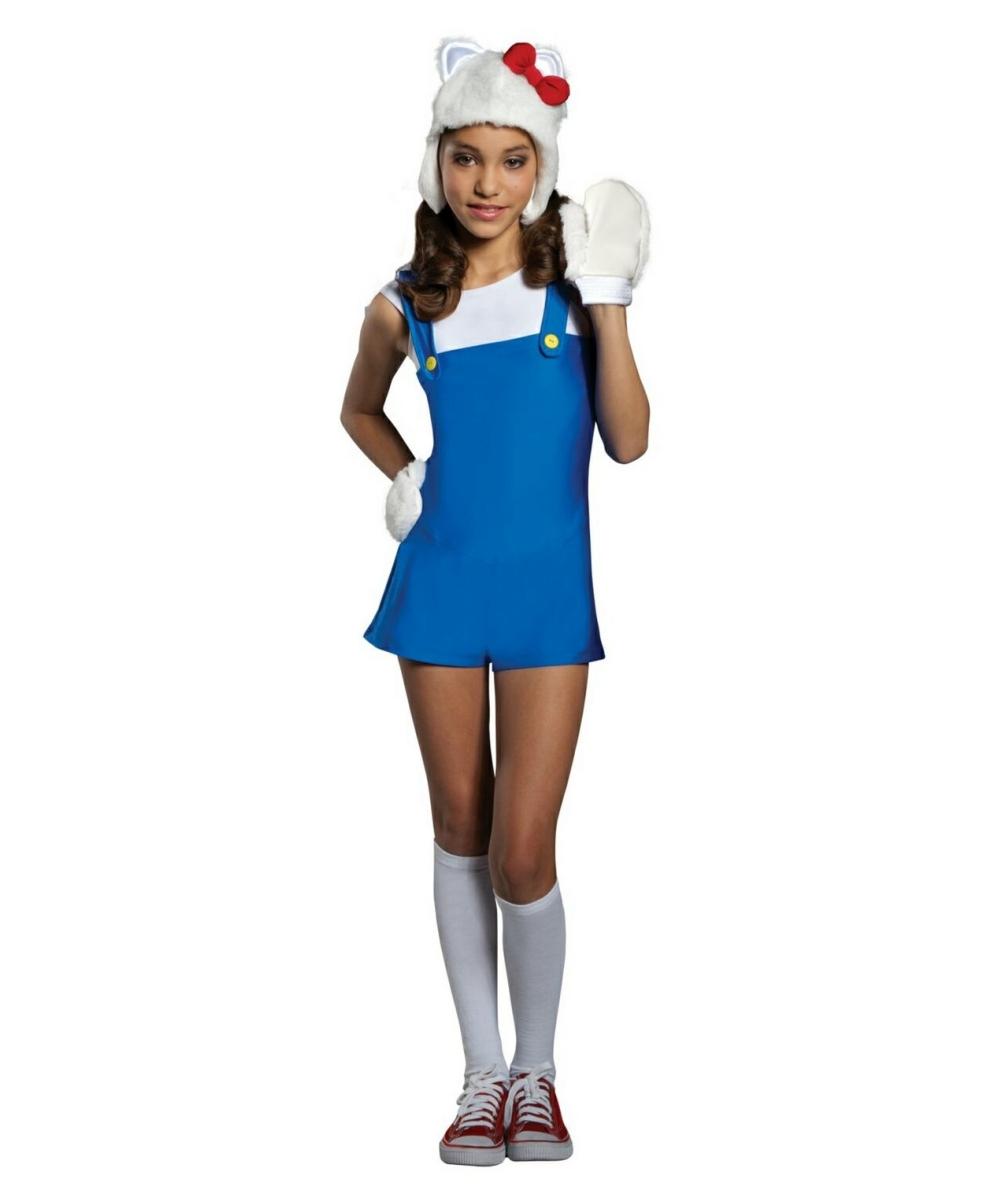 43e0e07c1 Hello Kitty Blue Romper Dress Costume - Girl Costume