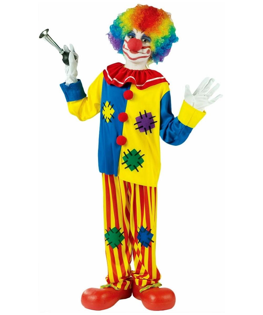 Clown Big Top Kids Funny Halloween Costume - Boy Clown ...