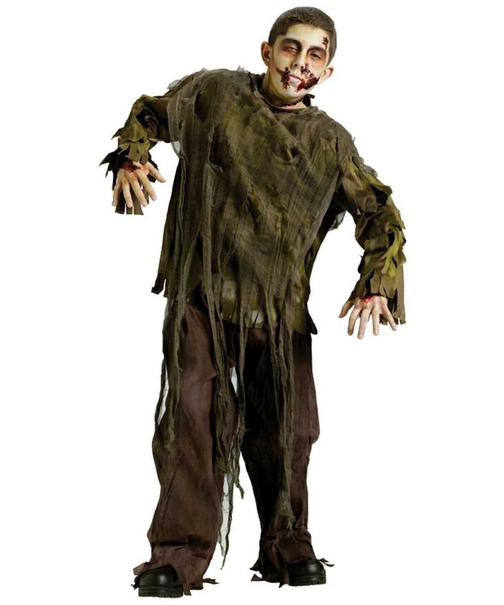 Zombie Dark Shirt Kids Halloween Costume - Boys Costumes