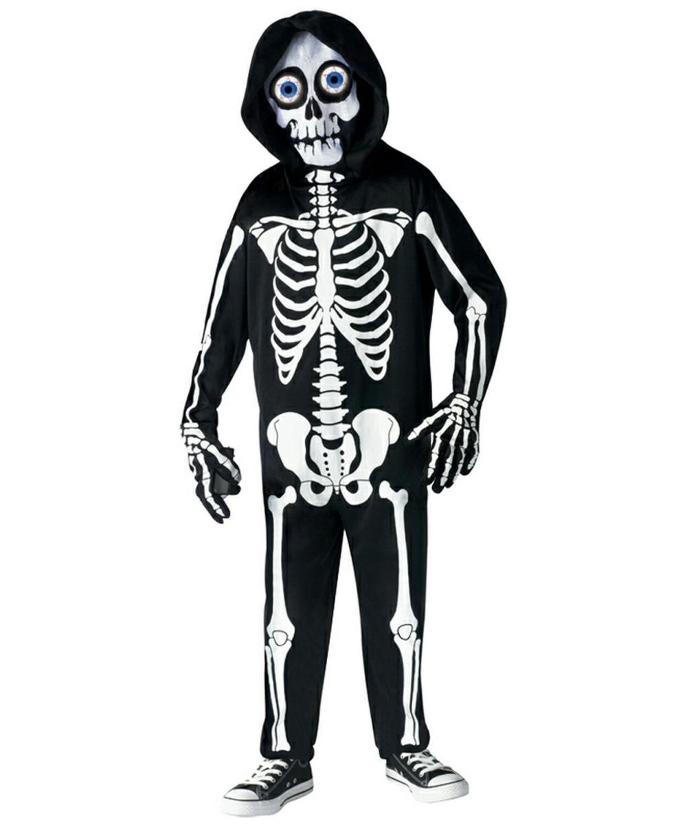 fright light skeleton costume - kids costumes