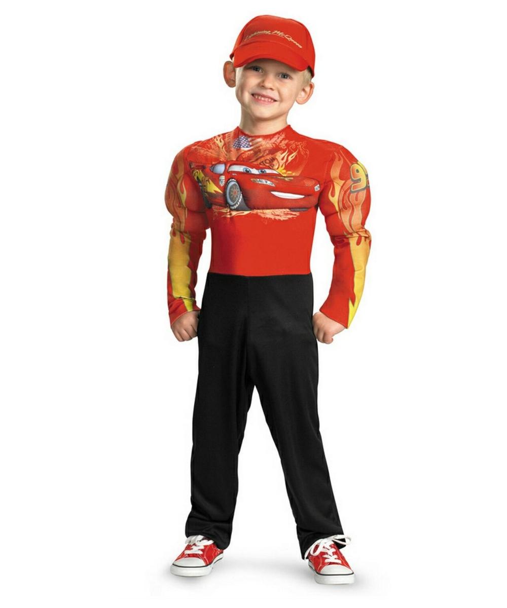 lightning mcqueen muscle kids disney halloween costume