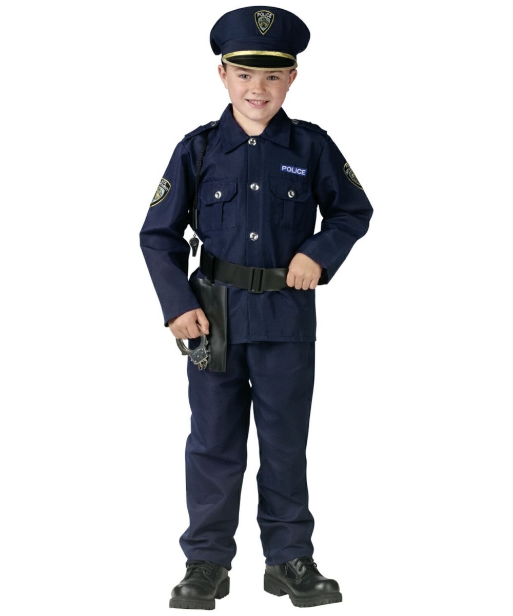 Police Man Boys Costume  sc 1 st  Wonder Costumes & Police Man Kids Officer Costume - Boys Professional Costumes