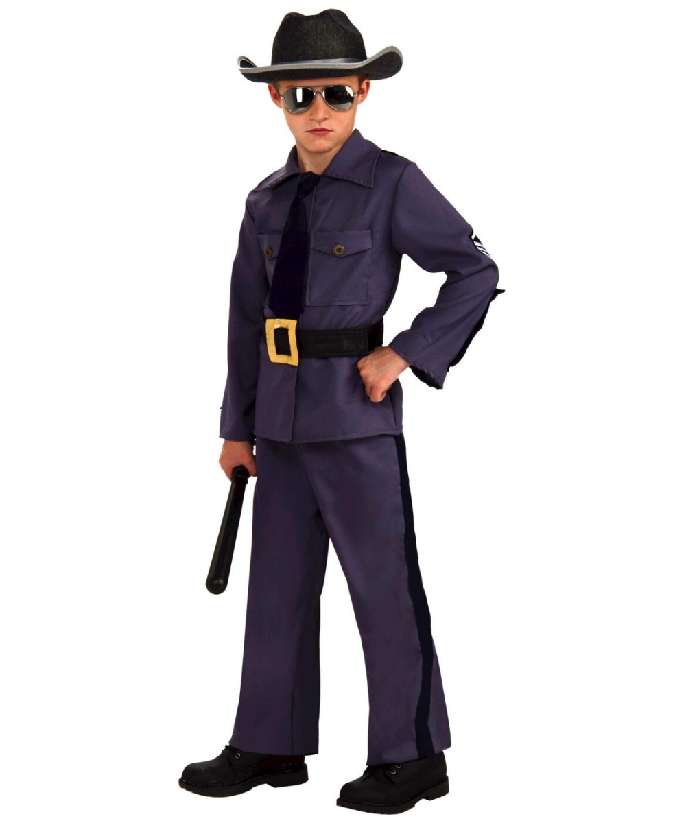 State trooper kids police officer costume boys costumes - Police officer child costume ...