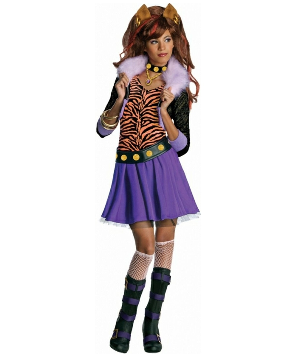 sc 1 st  Wonder Costumes & Clawdeen Wolf Kids Animal Halloween Costume - Animal Costumes