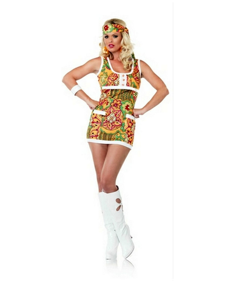 hippie far out adult costume - hippie costumes