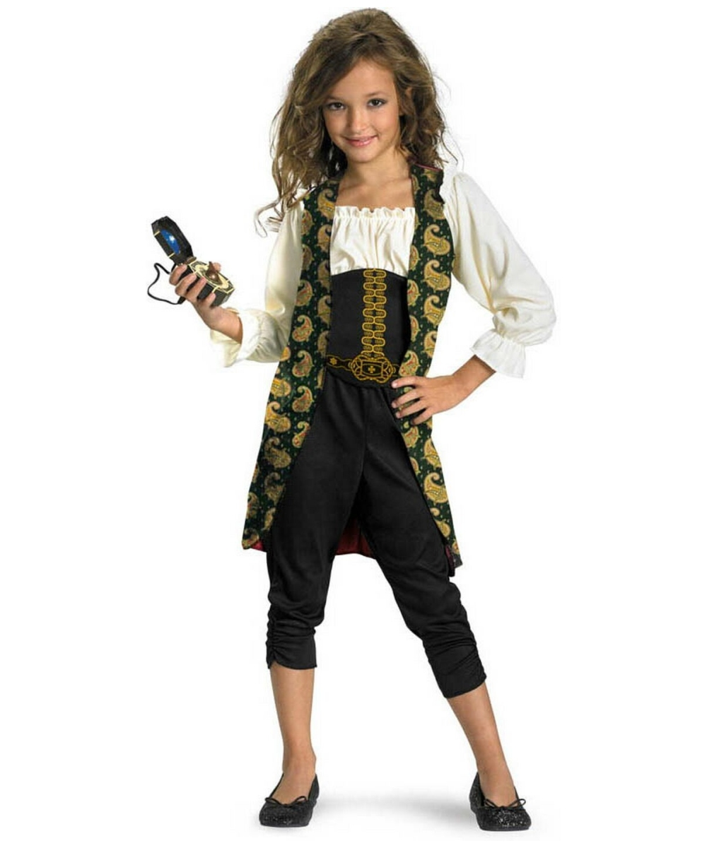 Angelica Pirates Of The Caribbean Girls Costume  sc 1 st  Wonder Costumes & Angelica Kids Disney Costume - Kids Halloween Costumes