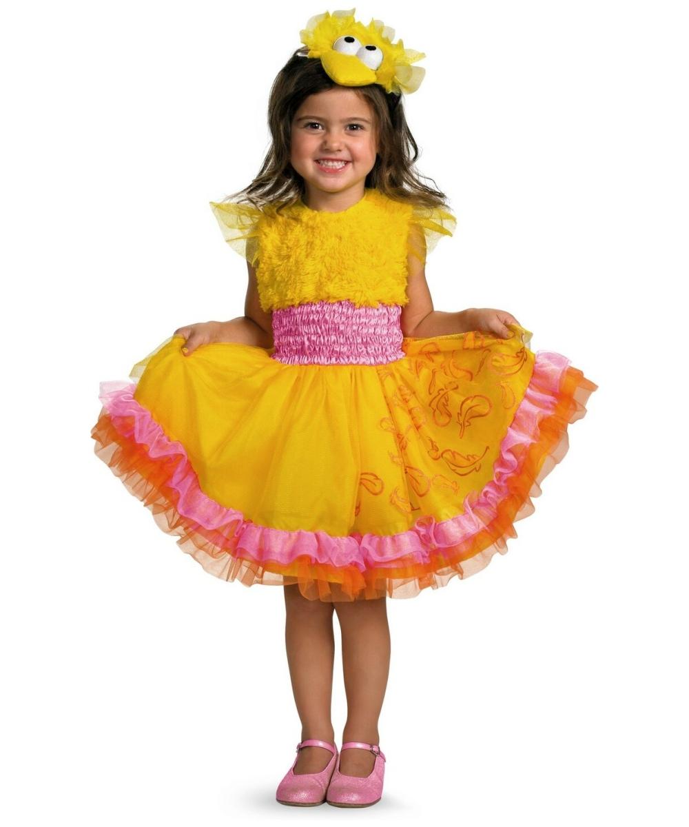 sc 1 st  Wonder Costumes & Frilly big Bird Kids Sesame Elmo Halloween Costume - Elmo Costumes