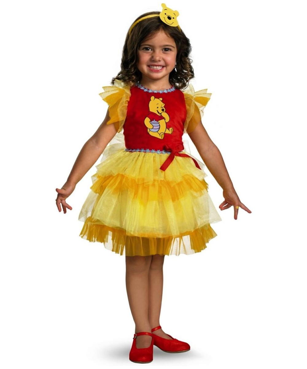 c2527820f754 Frilly Winnie the Pooh Disney Girl Costume - Disney Costumes
