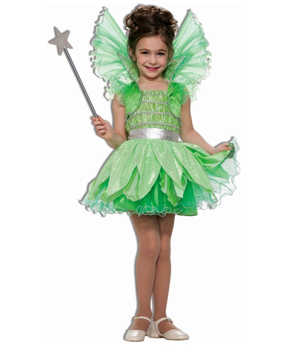 Green Fairy Kids Disney Girl Halloween Costume Disney