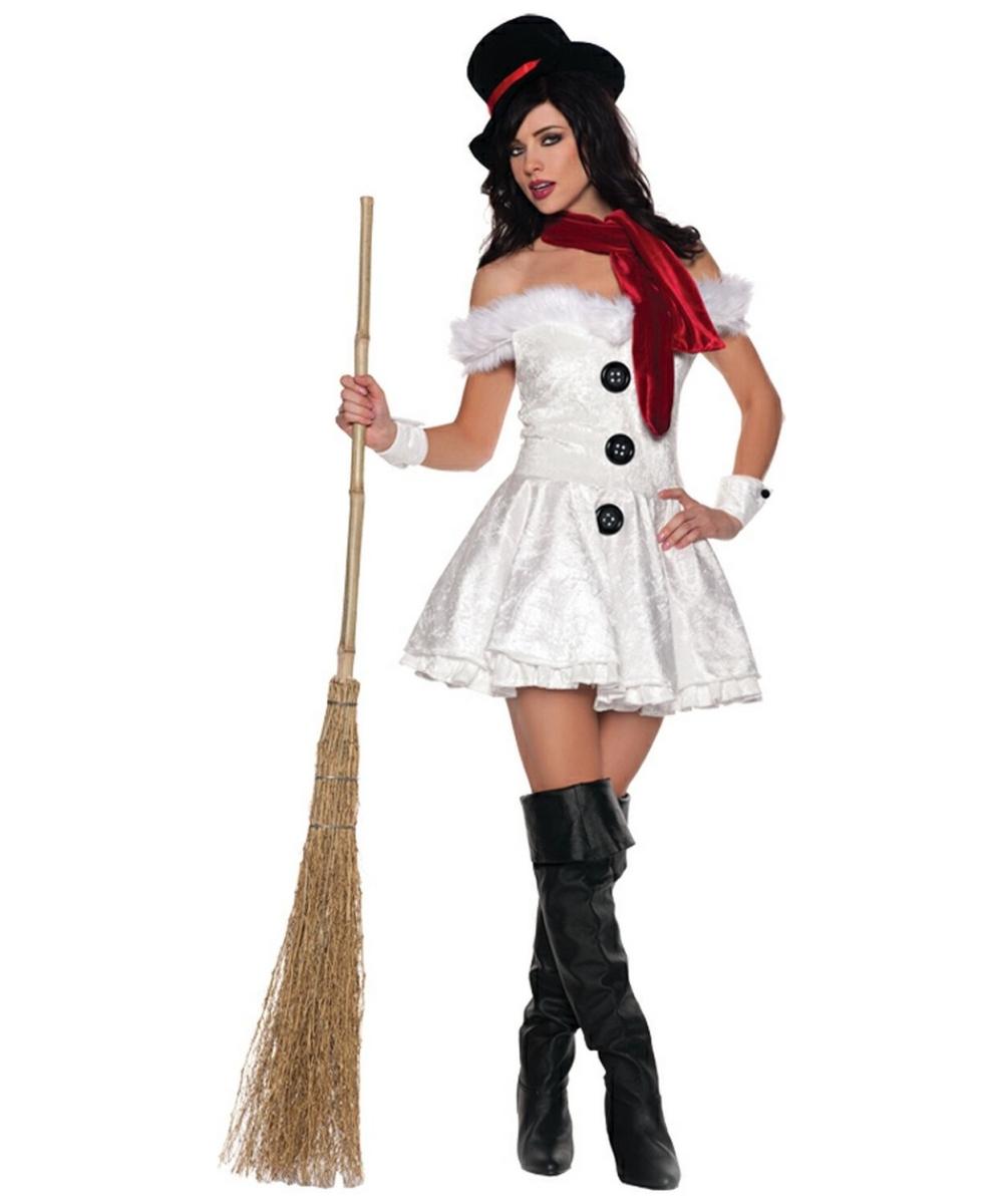 snow girl costume adult costume halloween costume at wonder costumes. Black Bedroom Furniture Sets. Home Design Ideas