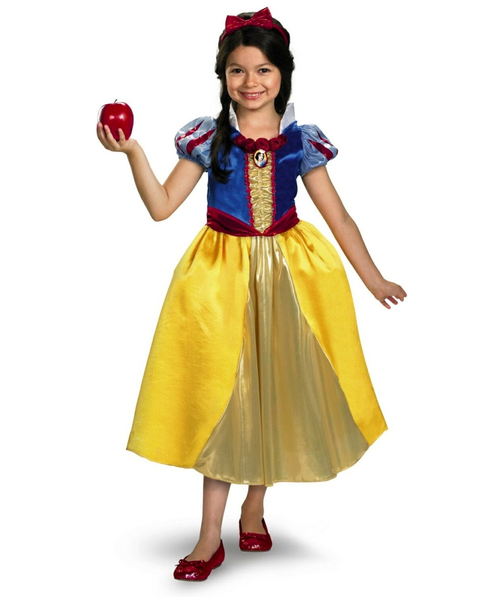 Snow White Disney Girls Costume Deluxe  sc 1 st  Wonder Costumes & Snow White Kids Disney Costume - Girl Disney Costumes