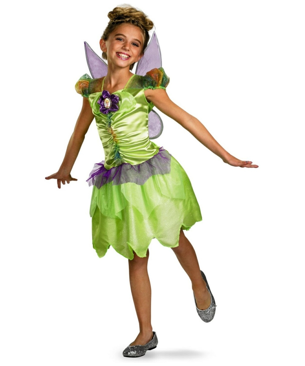 Tinkerbell Girls Costume  sc 1 st  Wonder Costumes & Tinkerbell Kids Disney Halloween Costume - DisneyTinker Bell Costumes