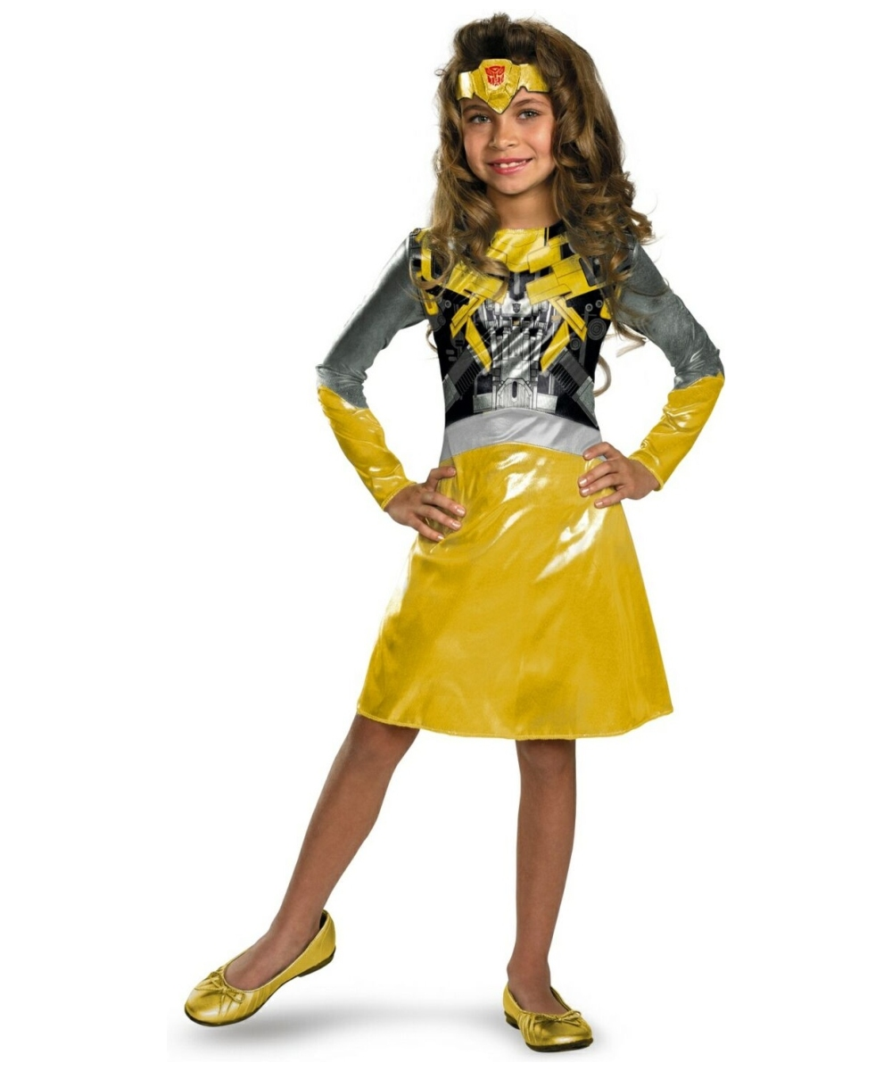 Girls Transformers Bumblebee Costume