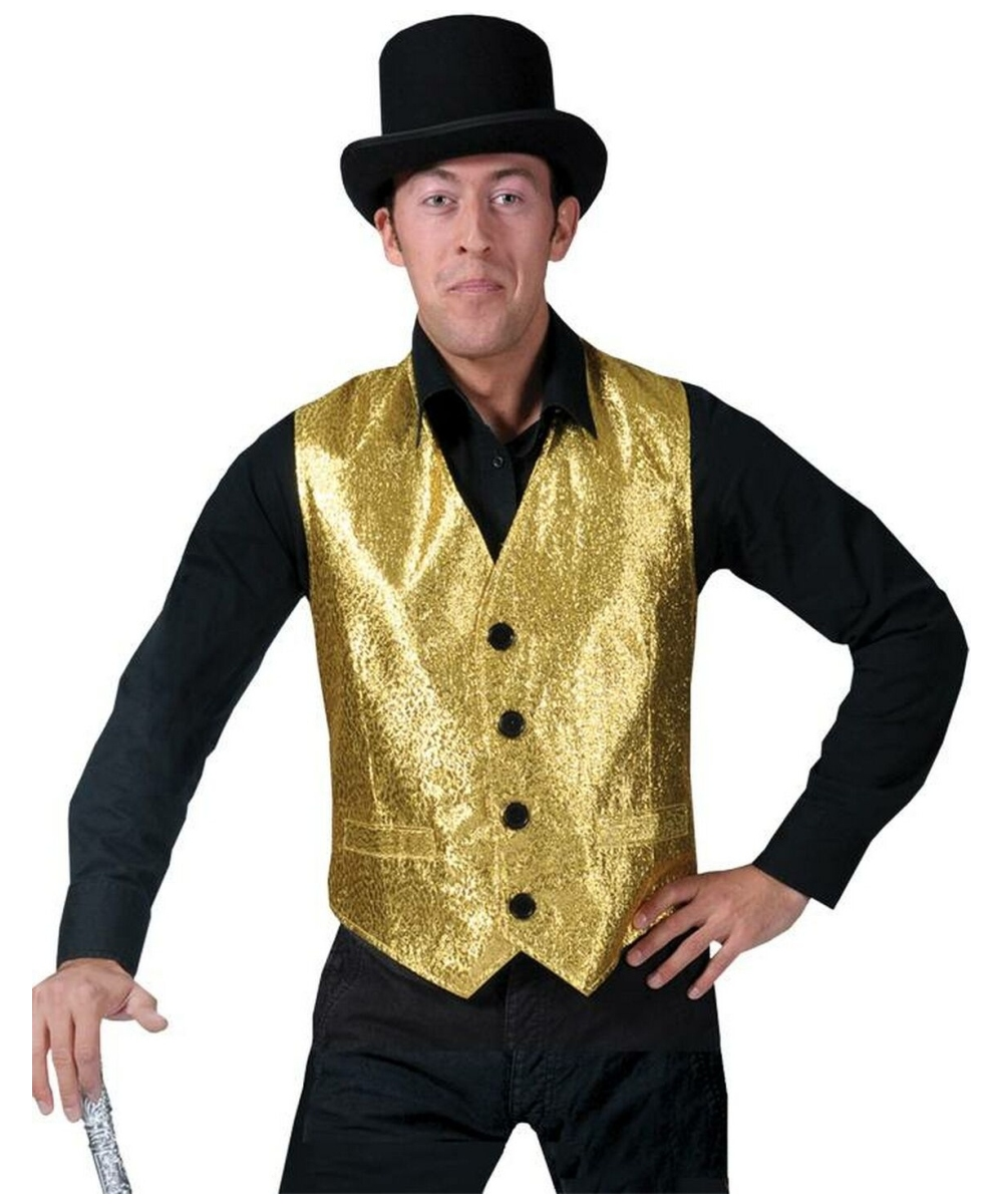 Gold Vest Costume  sc 1 st  Wonder Costumes & Gold Vest - Adult Costume - Halloween Costume at Wonder Costumes