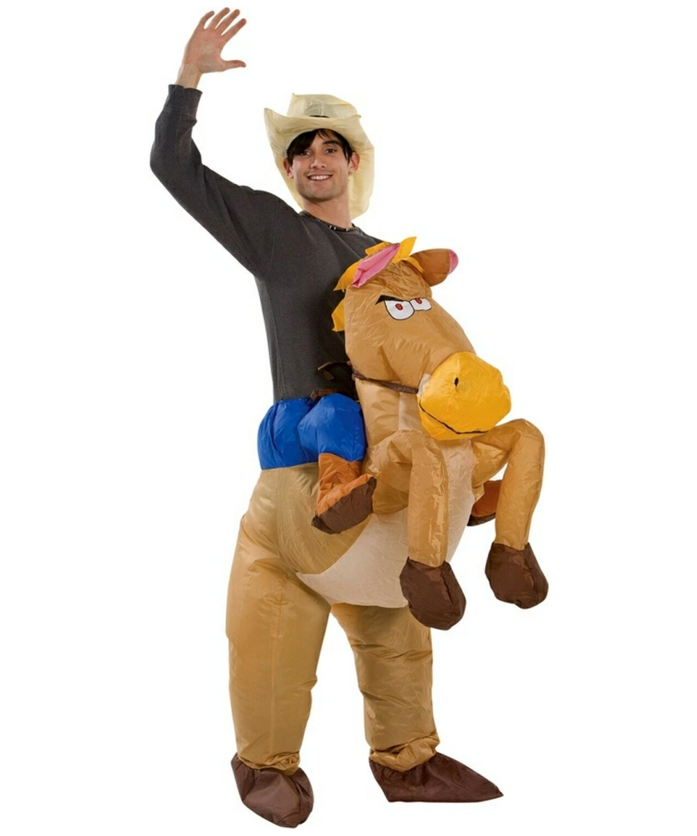 Inflatable Riding on Horse Costume