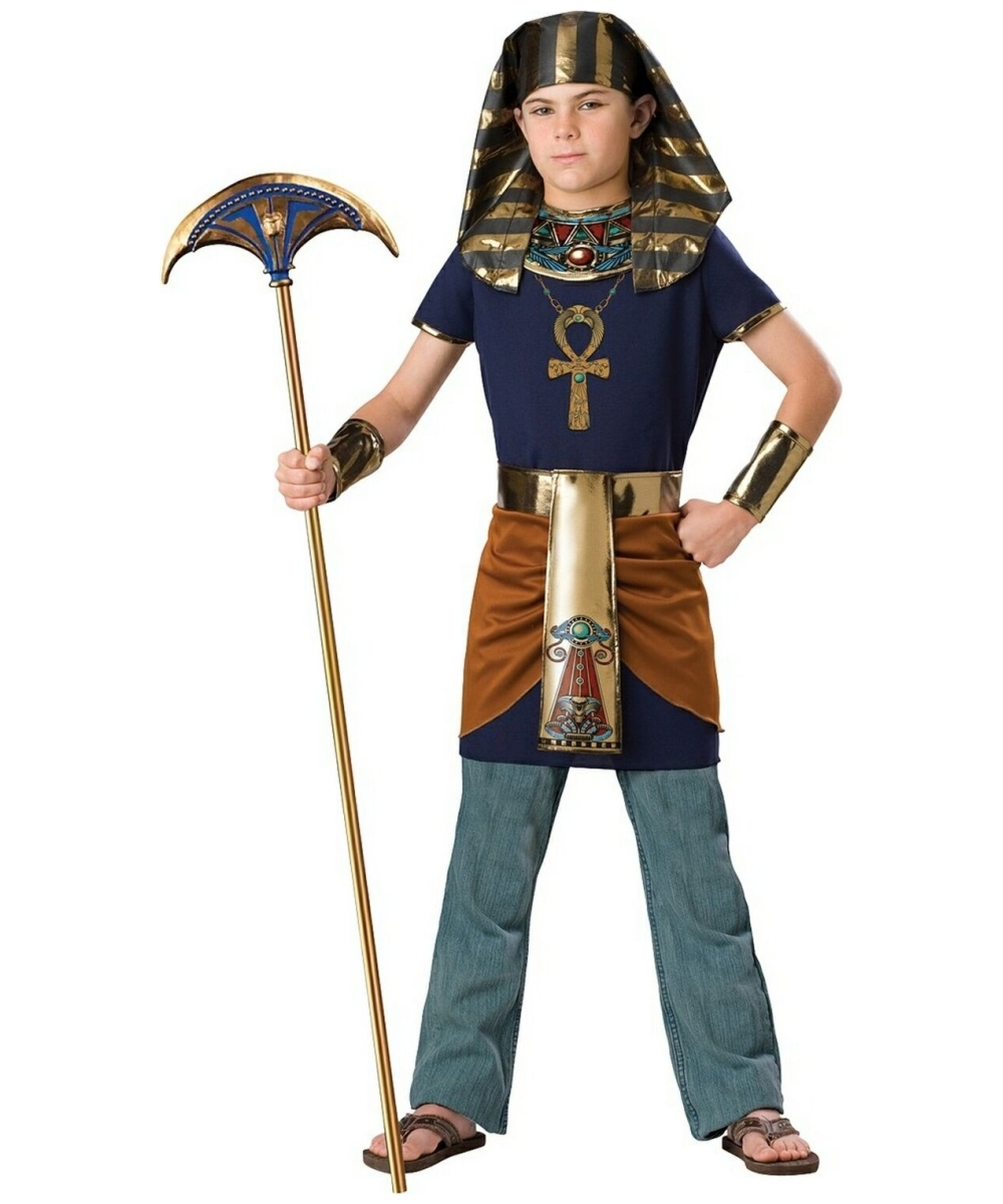 Pharaoh Boys Egyptian Costume  sc 1 st  Wonder Costumes & Egyptian Costumes for Kids - Classic Gilrs u0026 Boys Egyptian Outfit